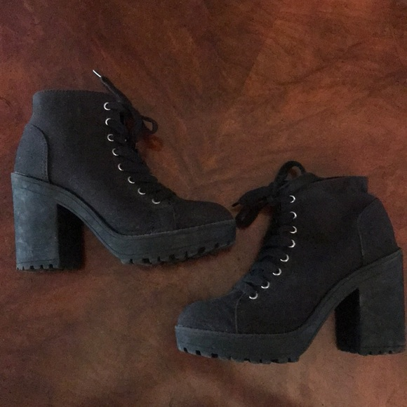 H&M Chunky Lace Up Ankle Boots